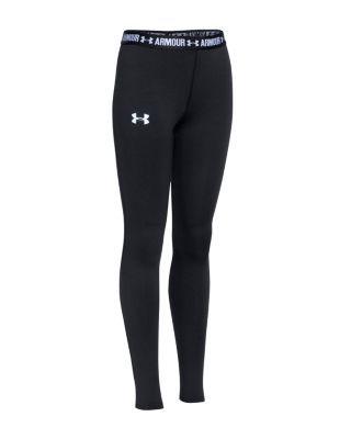 Under Armour Girls' Armour Leggings - Sizes Xs-xl | Polyester/elastane | Machine…