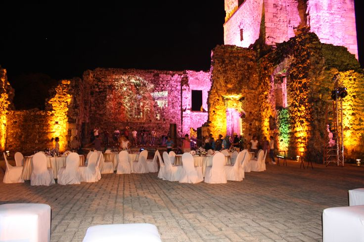 Iluminación de la Torre de Panamá Viejo, por mi equipo tecnico.