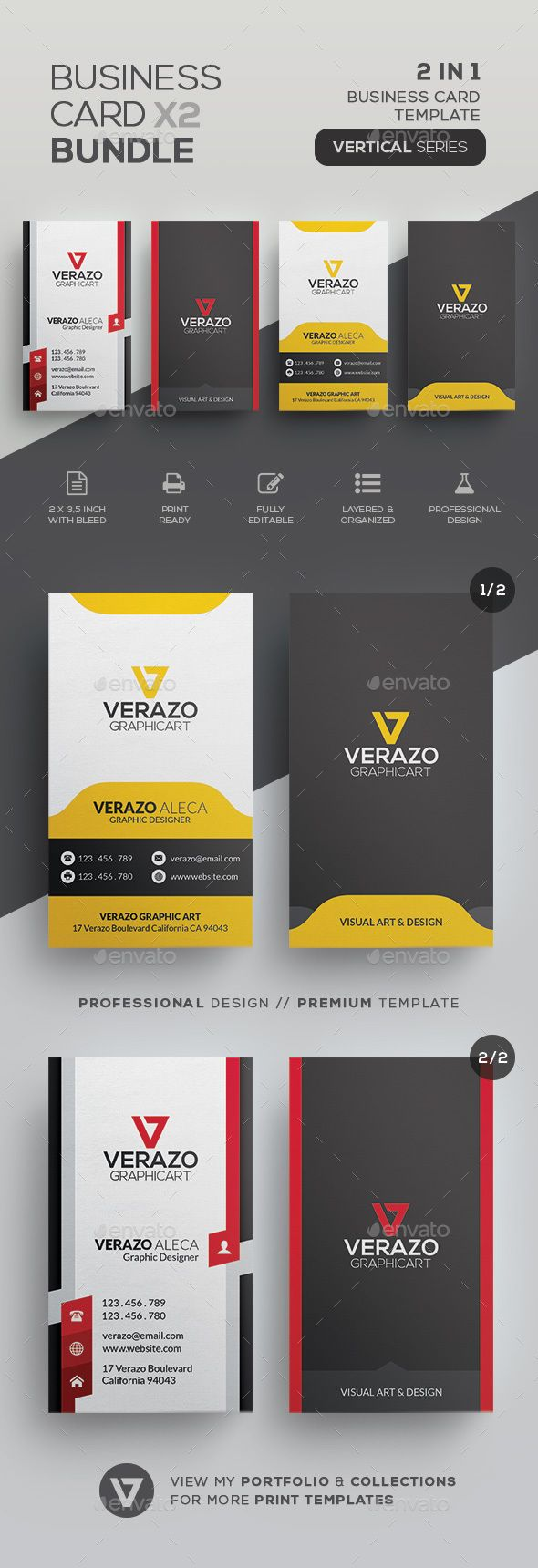 Business Card Bundle 36 - Corporate Business Cards Download here : graphicriver....