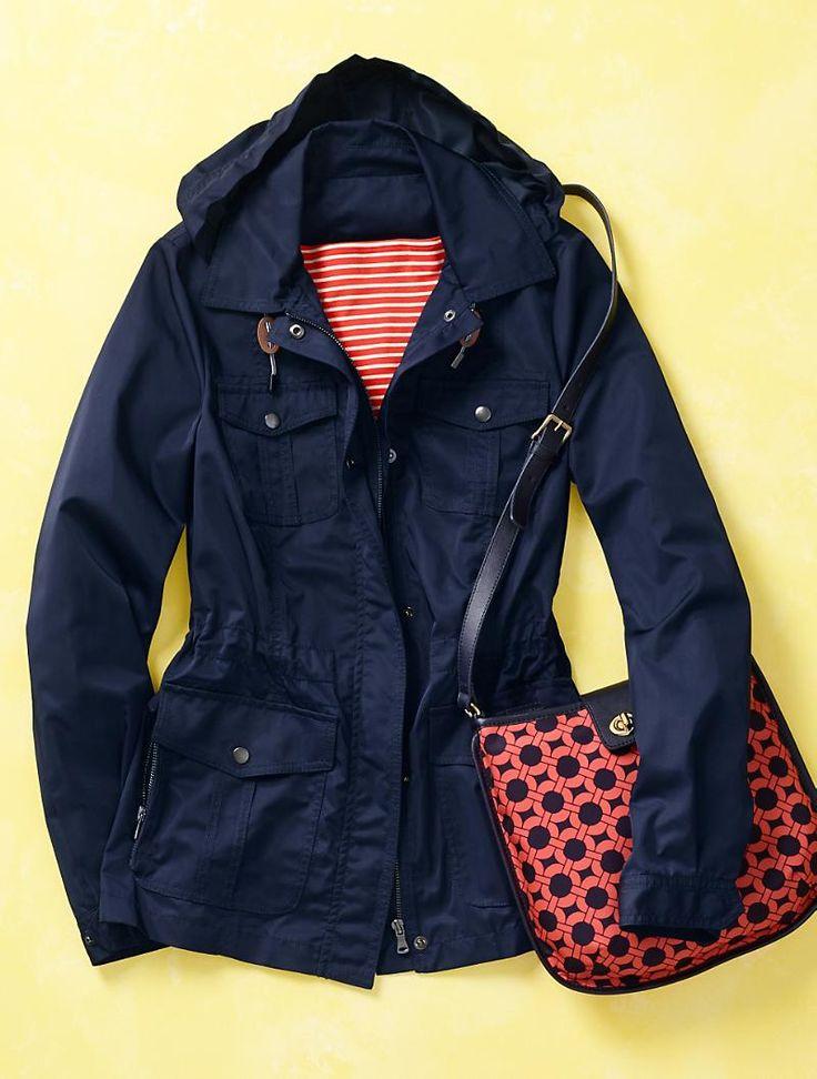 Plus Size Rain Jacket With Hood
