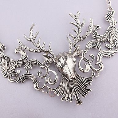 Vintage (Deer Pendant) Gold Alloy Torque(Gold,Silver)(1 Pc) - USD $ 4.79