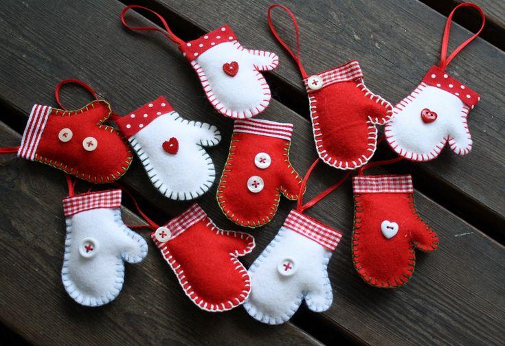 Julpynt - vantar av filt