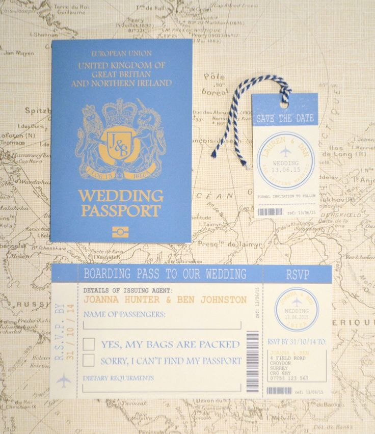 18 Best {Travel- Wedding Passport}- Wedding Stationery