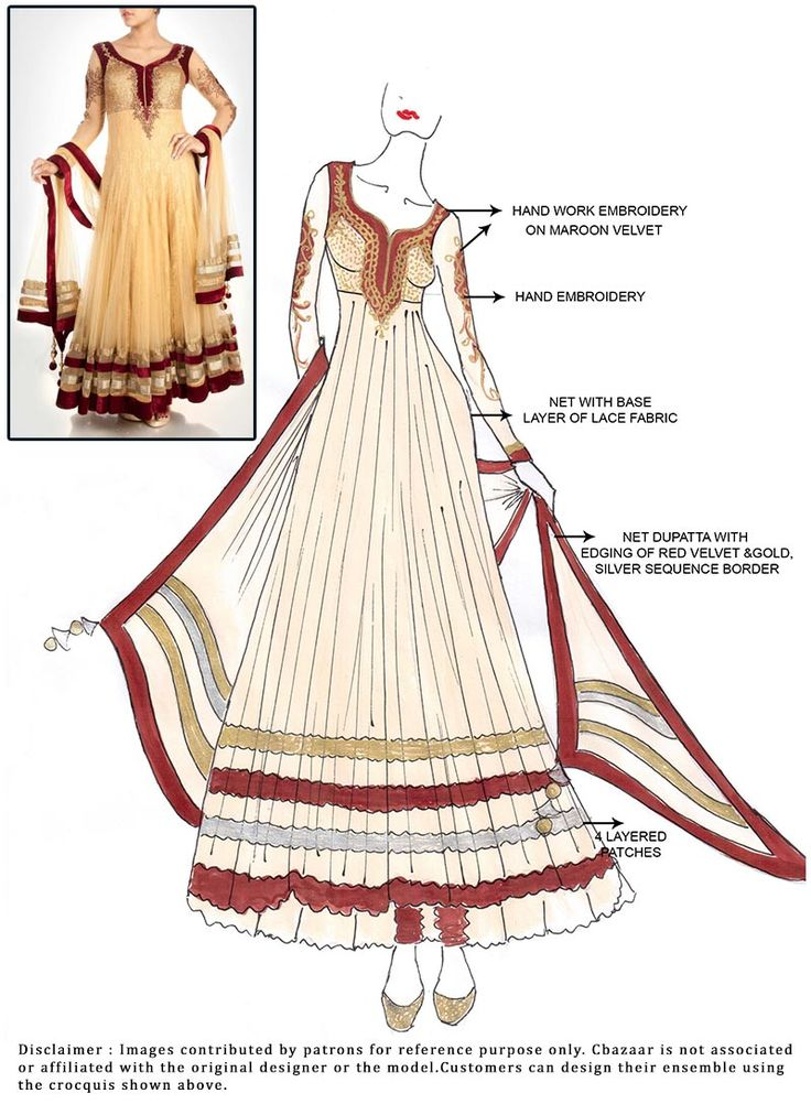 DIY Beige Ankle Length #Anarkali Suit