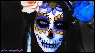 Trucco halloween Sugar skull/Teschio messicano FACILE E VELOCE! - YouTube