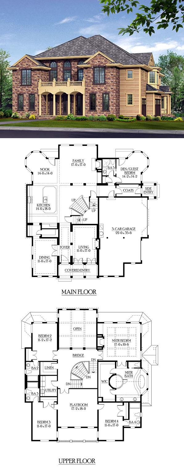 european traditional house plan 87580 - Large House Plans