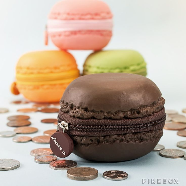 "These macaron COIN PURSES (<a href=""http://www.firebox.com/product/5810/Scented-Macaron-Coin-Purses?via=chart"" target=""_blank"">$14</a>)."