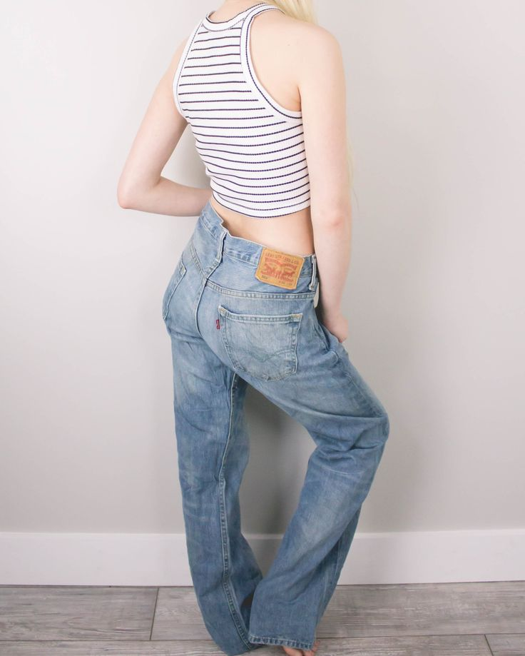 Vintage (LARGE) Levis 569 High Waisted Denim Jeans