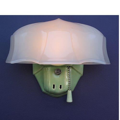 Vintage Green Glass Light Fixture: 157 Best Vintage Bathroom Light Fixtures Images On
