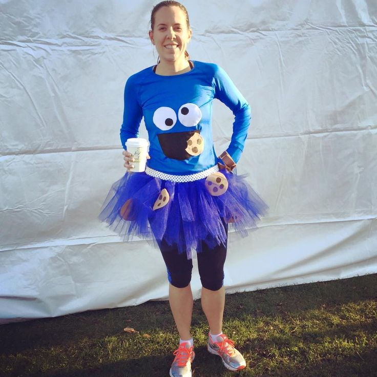 Cookie Monster running costume for the chocolate 10k.