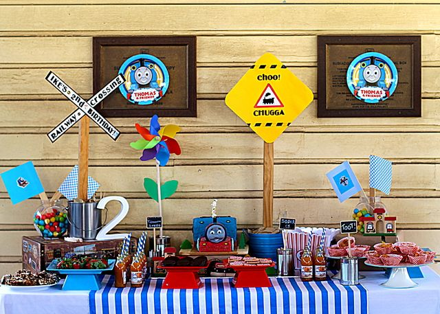 "Photo 1 of 11: Thomas the Train party / Birthday ""Train party"" 