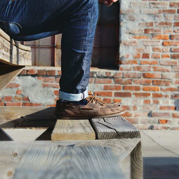 Jeans + boat shoes = spring's most-loved benchwarmers.