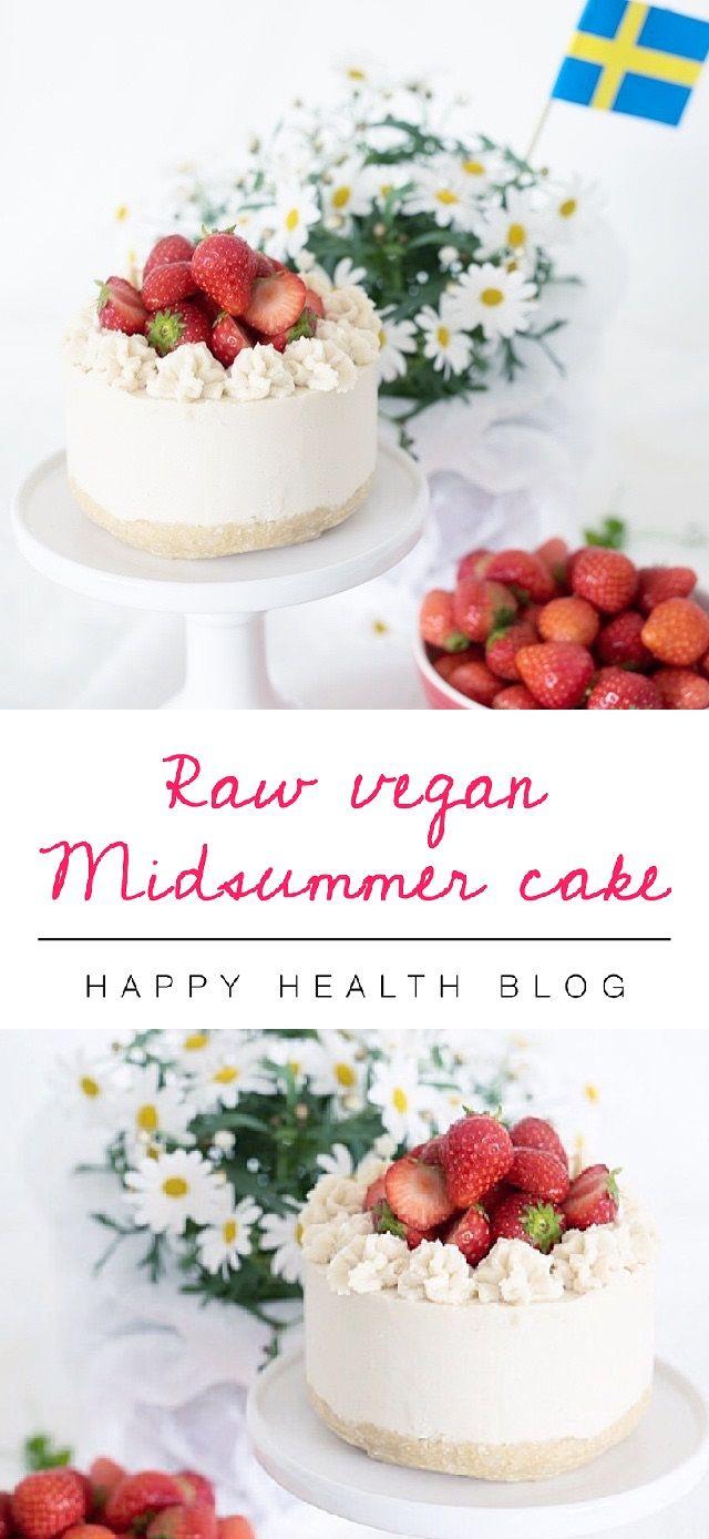 Raw strawberry lemon midsummer cake - dessert recipes, raw recipes - Photo: Malin Mörner