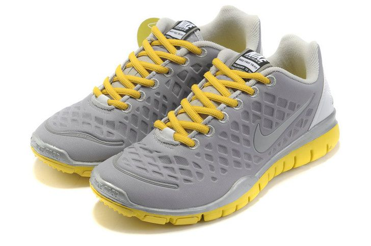 GwYHFROx Nike Free Tr Fit Grey Yellow Silver Women Shoes