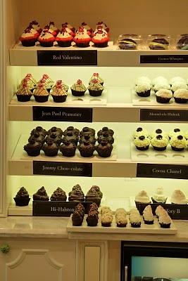 Cupcake shop shelving idea