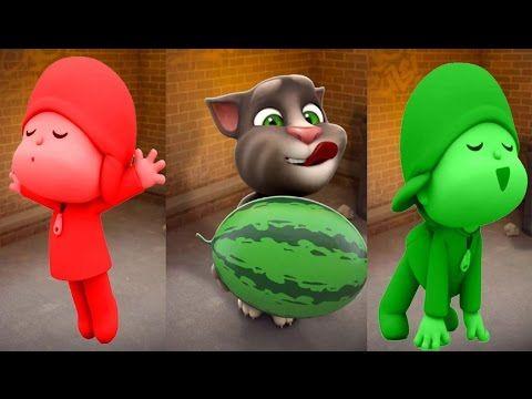 Aprende Los Colores Talking Tom y con Pocoyo en Español ★ Videos Para Ni...