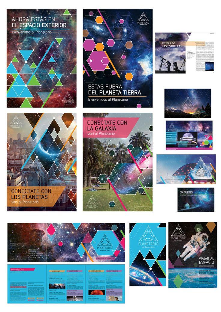 Sistema gráfico, identidad del Planetario de Buenos Aires