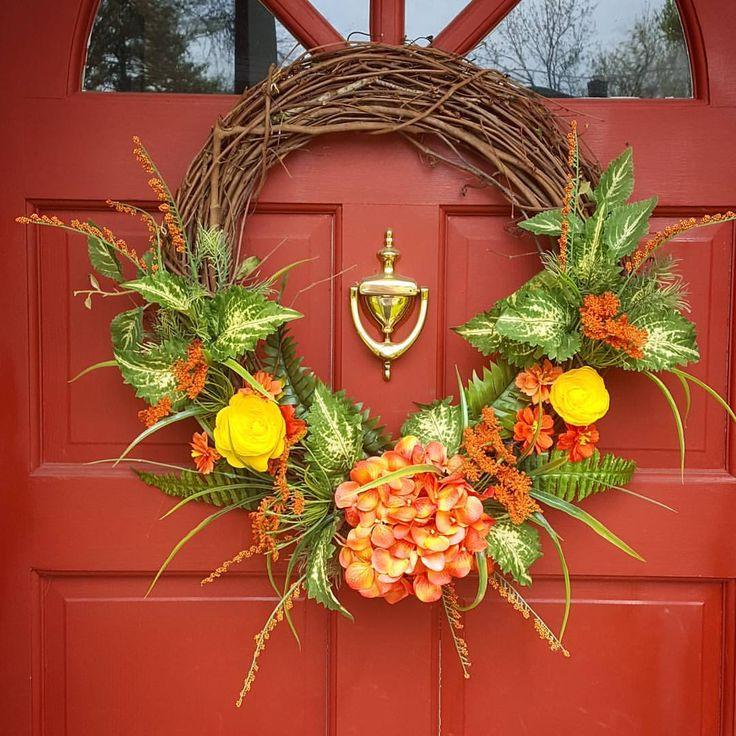 Wreath Hanger For Front Door Wreaths Christmas Wreath Spring Wreath