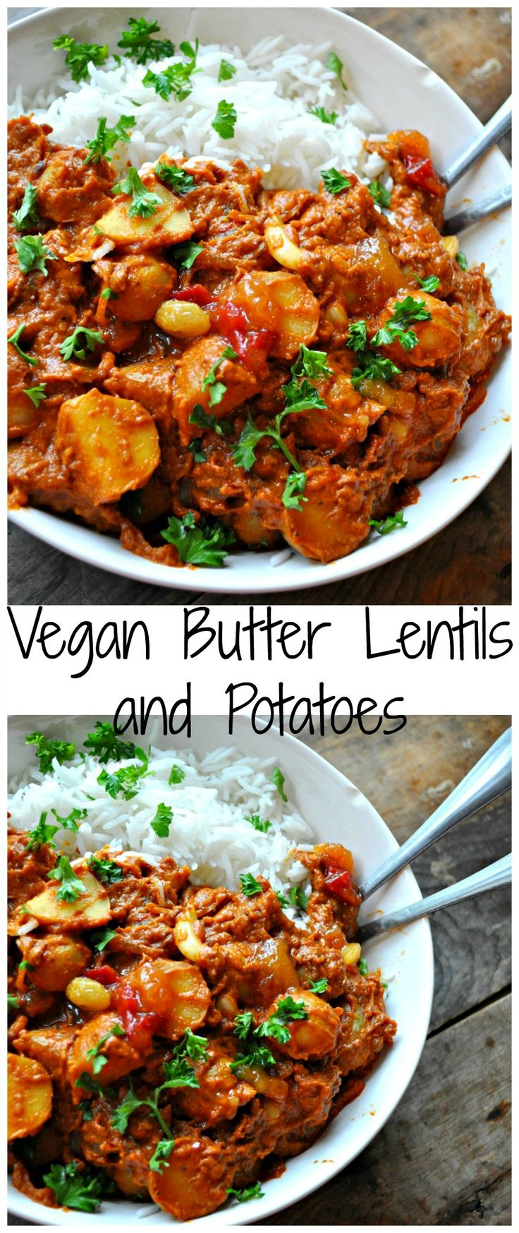 Vegan Butter Lentils and Potatoes