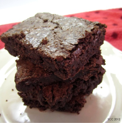 Outrageous Brownies (Ina Garten's recipe). I made these for Chris's ...
