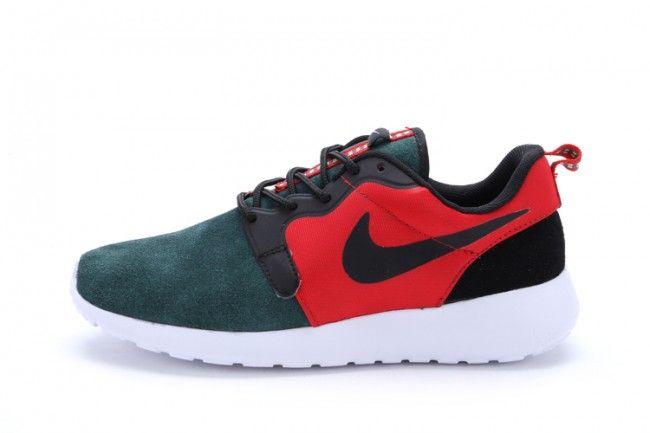 Nike Roshe Run London Olympic Sportovní ultralehké běžecká obuv červená a tmavozelený