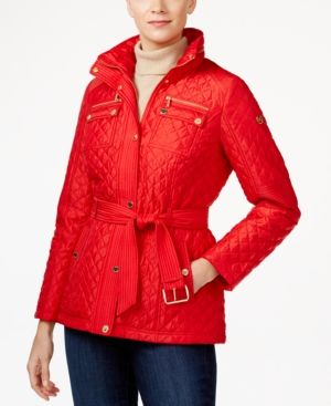 Michael Michael Kors Belted Quilted Jacket -