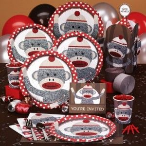 sock monkey party ideas and links