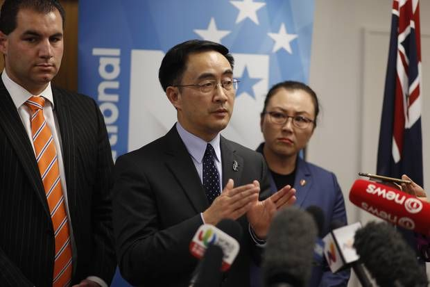 National Party list MP Dr Jian Yang trained Chinese spies before coming to this country. Photo / Dean Purcell