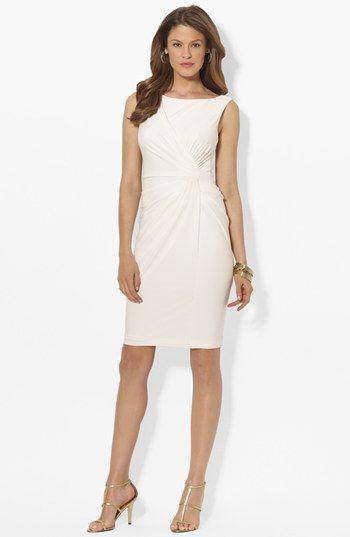 Lauren Ralph Lauren Knot Front Matte Jersey Sheath Dress available at  #Nordstrom