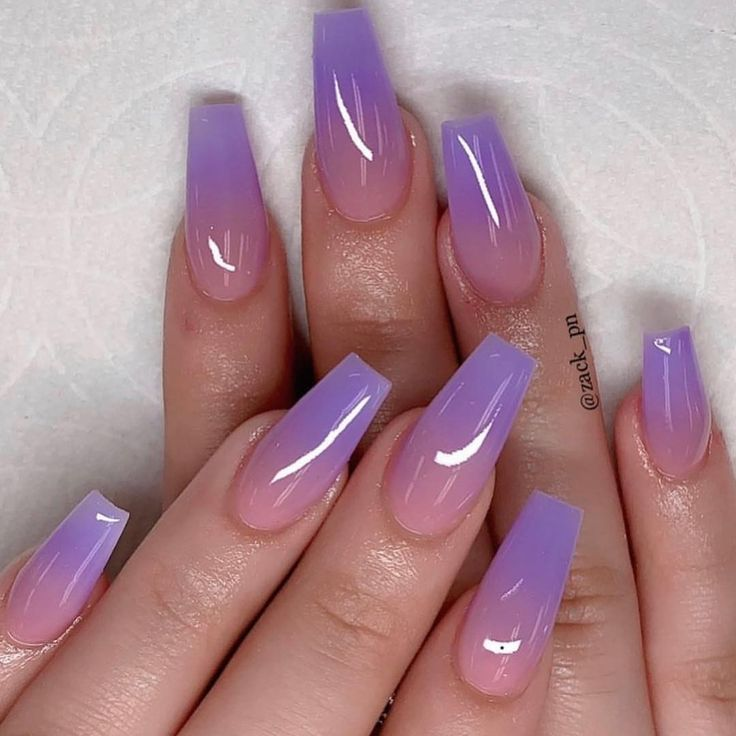 Acrylic nail coffin