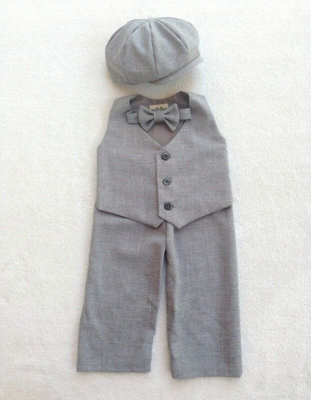 Ring Bearer Outfit, Baby Boy, First Birthday Outfit, Ring Bearer, Baby Boy Suit, Baby Boy Easter Outfit, Toddler Suit, Newsboy, Ring Bear by fourtinycousins on Etsy https://www.etsy.com/listing/177136757/ring-bearer-outfit-baby-boy-first