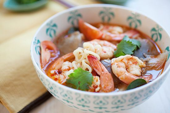 15-Minute Tom Yum Noodle Soup Recipe — Dishmaps