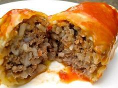 Galumpki (hamburger & rice stuffed cabbage rolls) - been looking for this recipe forever!!!