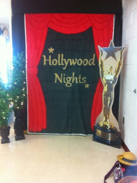 Hollywood nights theme banner / decor in place!!!