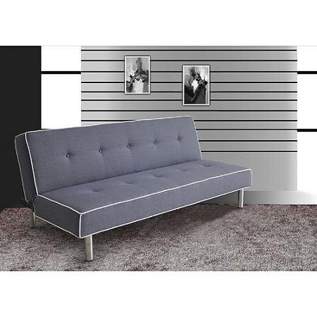 melva futon adjustable sofa gray