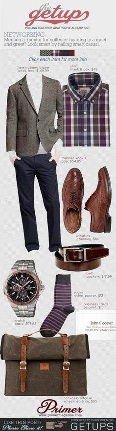 The Getup: Networking | Primer #casual #menstyle #menswear