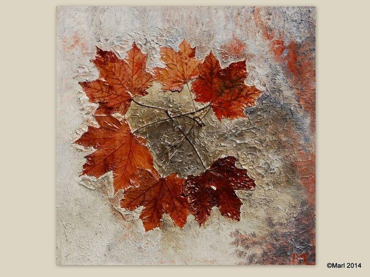 Kom binnen in de Kunstgalerie van Marl.Decoratieve schilderijen: Herfst