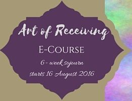 ART of receiving ecourse. Learning to let go of limiting beliefs and live a life of purpose