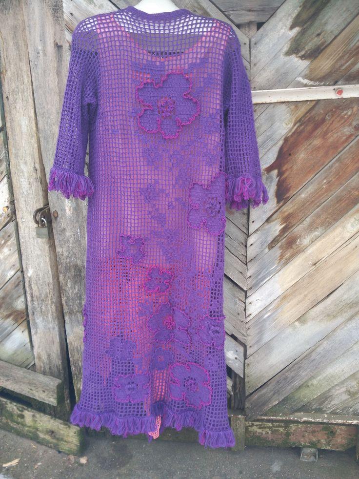 авторский платье-шазюбль из ангорки,спинка
