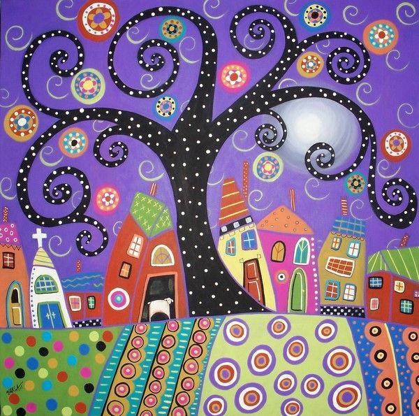 Polka Dot Tree by Karla Gerard