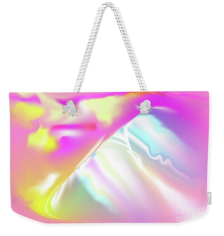 Pink Weekender Tote Bag featuring the digital art Tvist by Ron Labryzz