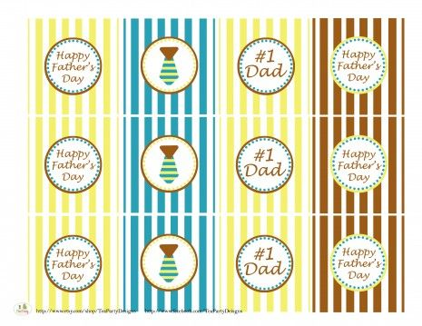 free printable father's day party circles and more from @Catch My Party
