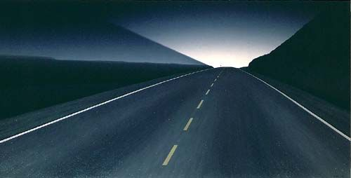 Night Road by Christopher Pratt. 1988