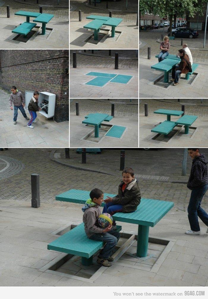 Pop-up Street Furniture