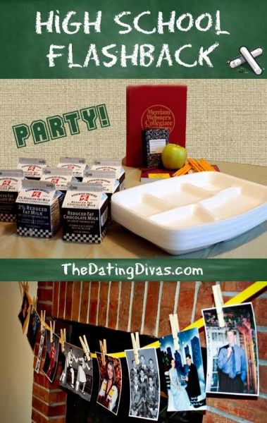 Relive those fun High School Days with this clever group date or party.  Perfect for the Fall!   www.TheDatingDivas.com #dateideas #adultparty #datingdivas