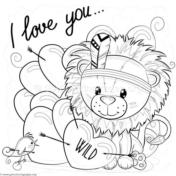 Free Download I Love You Lion Coloring Pages Coloring
