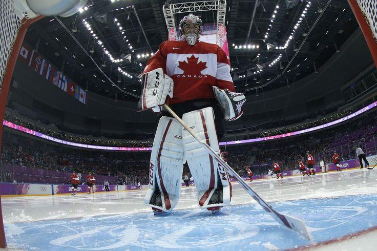 JO Sotchi - Février - Carey Price devant le filet du Canada pour son premier match.
