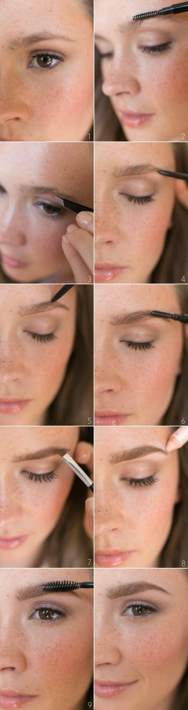 natürliches schminken anleitung nude look augenbrauen