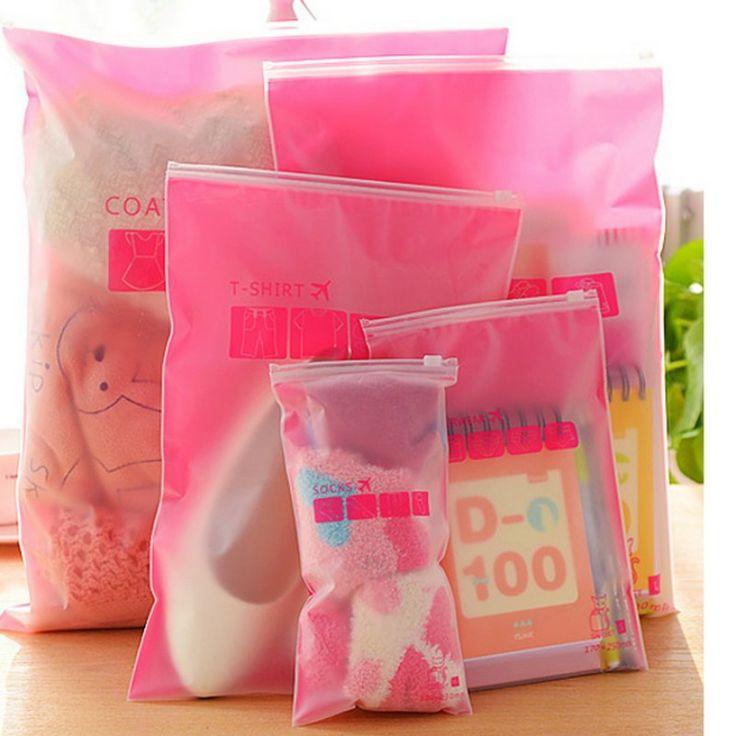 8 pcs/sets Pakaian Transparan tahan air kaus kaki/pakaian bra tas penyimpanan sepatu travel Cuci melindungi tas penyimpanan kosmetik plastik