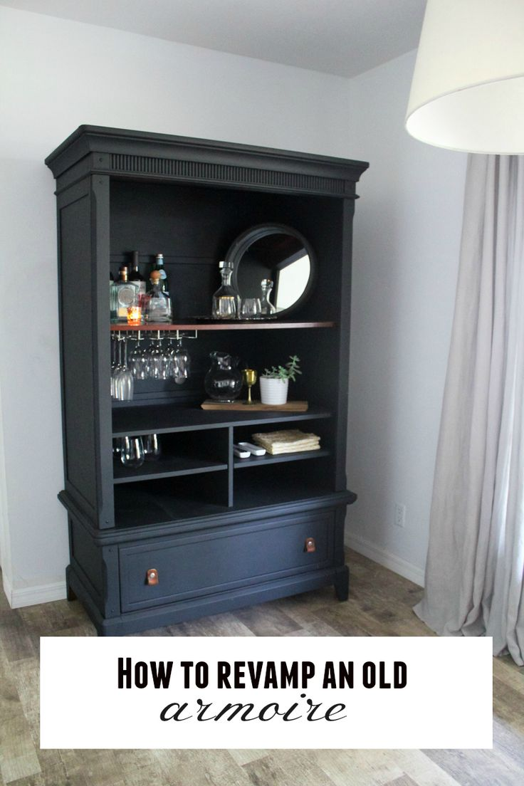 Revamp an old furniture using black chalk paint! Super easy DIY